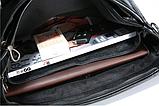 Жіноча сумка чорна кожзам, фото 7