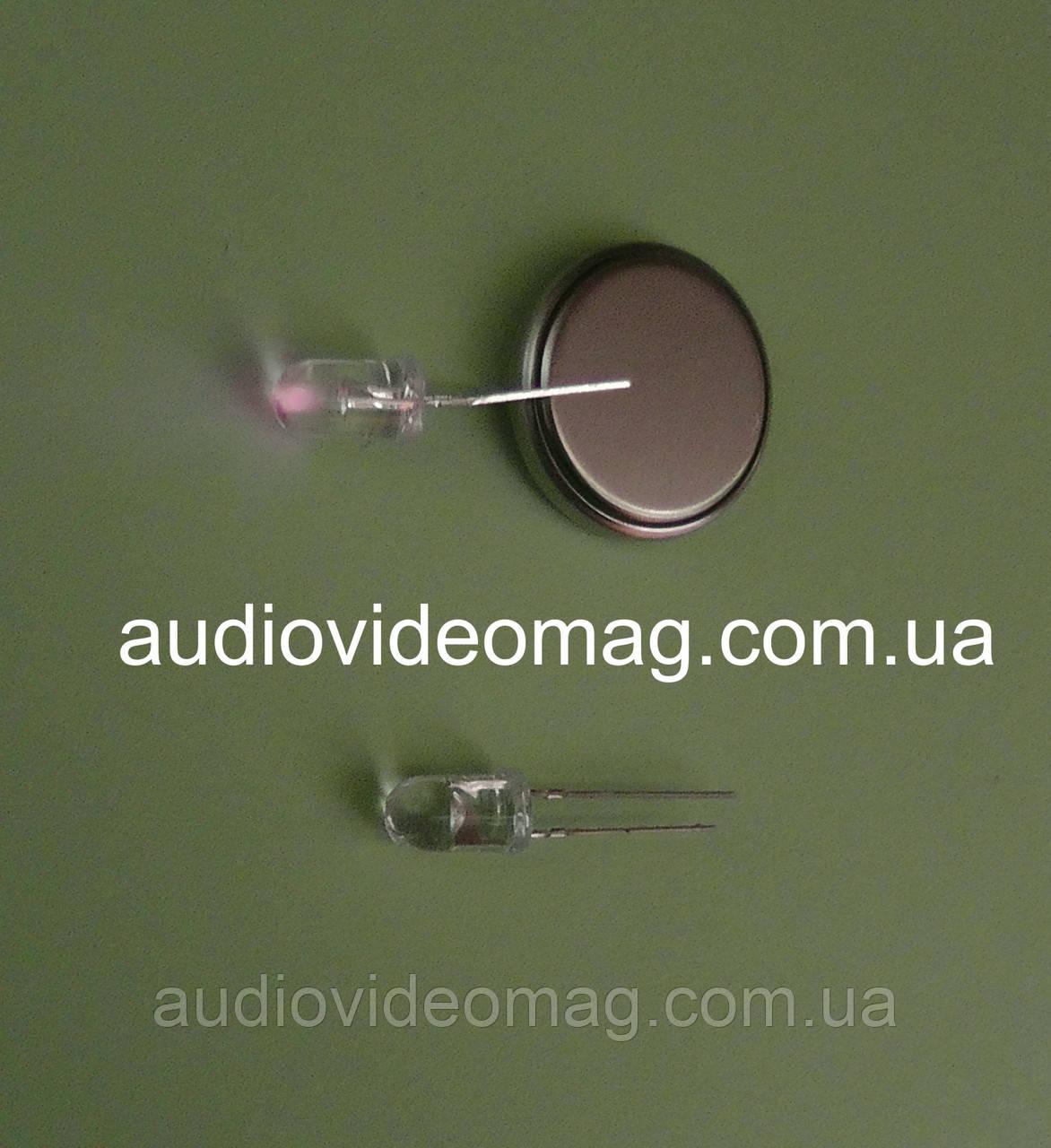 Світлодіод 3V 5 мм, інфрачервоний, довжина хвилі 940 нм