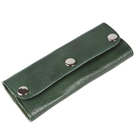 Ключница-портмоне на 6 ключей BagHouse кожаная 15х6,5х2,5    клКН15зел, фото 2