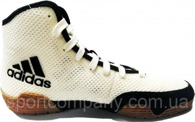 БОРЦОВКИ ДЕТСКИЕ ADIDAS TECH FALL 2 0K (FU8172) WHITE/BLACK Р. 34 (UK 3)