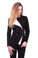 Женский деловой двубортный пиджак на пуговицах, фото 1