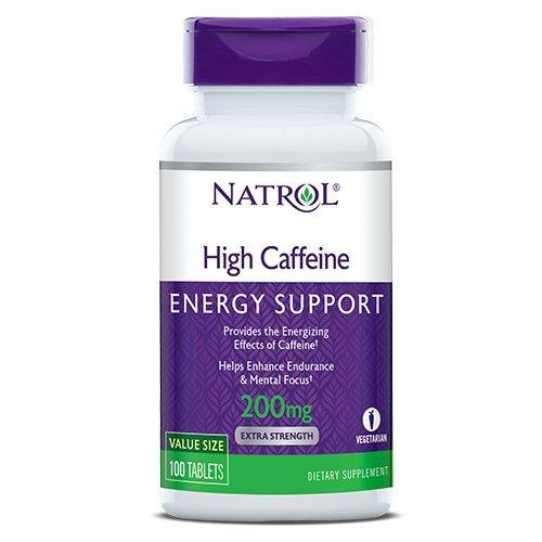 Кофеїн Natrol High Caffeine 200 mg 100 tabs