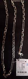 Серебряная цепь 925 пробы Якорная 6 брус. черненая