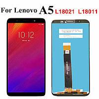 Дисплей для Lenovo A5 L18021 с тачскрином черный, Оригинал