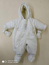 Детский человечек комбинезон трансформер мешок на ребенка цвет молочный от рождения до полутора лет
