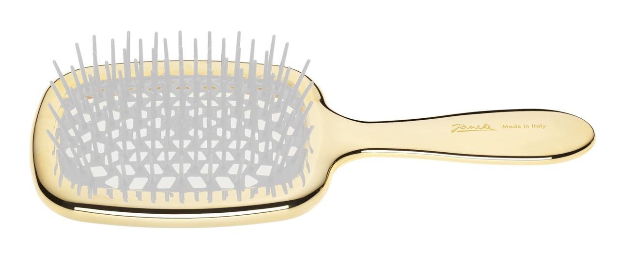 Расческа для волос Janeke Golden Brush Rectangular Hairbrush Золото