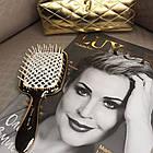 Расческа для волос Janeke Golden Brush Rectangular Hairbrush Золото, фото 2