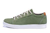 Мужские кожаные кеды  Е-series Soft Men Green (реплика), фото 1