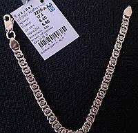 Серебряный браслет арабка с камнями  925 пробы
