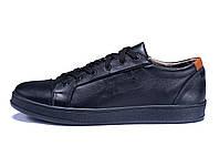 Мужские кожаные кеды  Е-series Soft Men Black Leather (реплика), фото 1