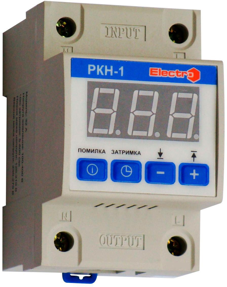 Реле контроля напряжения РКН-1  1 полюс +N   63А  13,8 кВт  230-270В