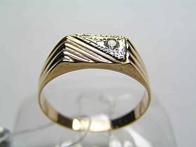 Золотая мужская печатка 585 пробы