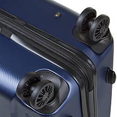 Чемодан OULANDO большой, пластиковый с расширением, 4 колеса 47х72х29(+3) синий ксЛ722-28син, фото 3