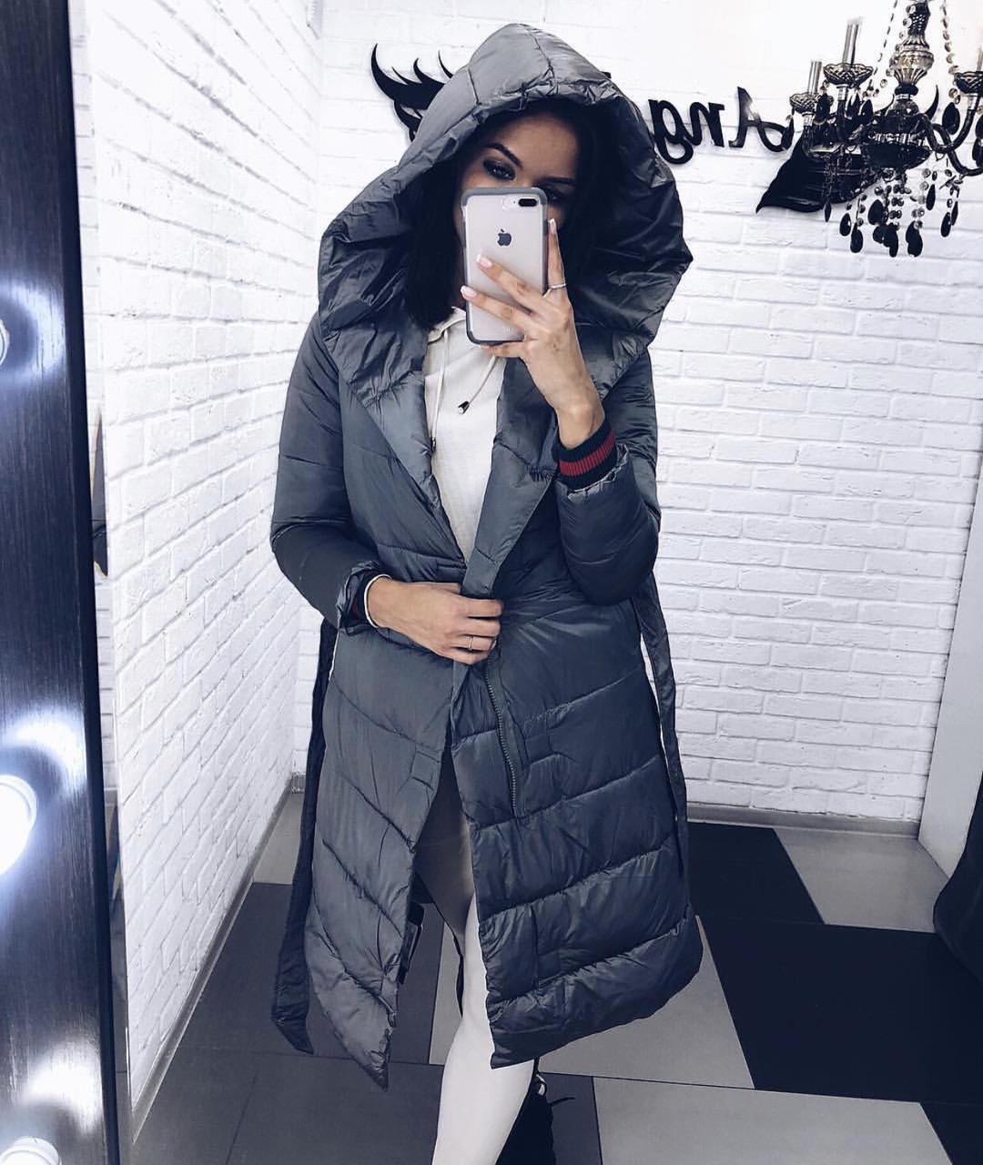 Куртка женская чёрная, хаки, бордо, графит, 42, 44, 46, 48