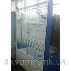 Душевая штора стекло Полосы 150