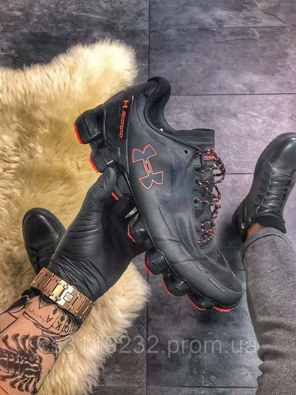 Мужские кроссовки Under Armour Scorpio Black orange (черные)