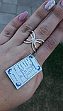 Серебряное кольцо счастье  925 с золотом  375 пробы, фото 2