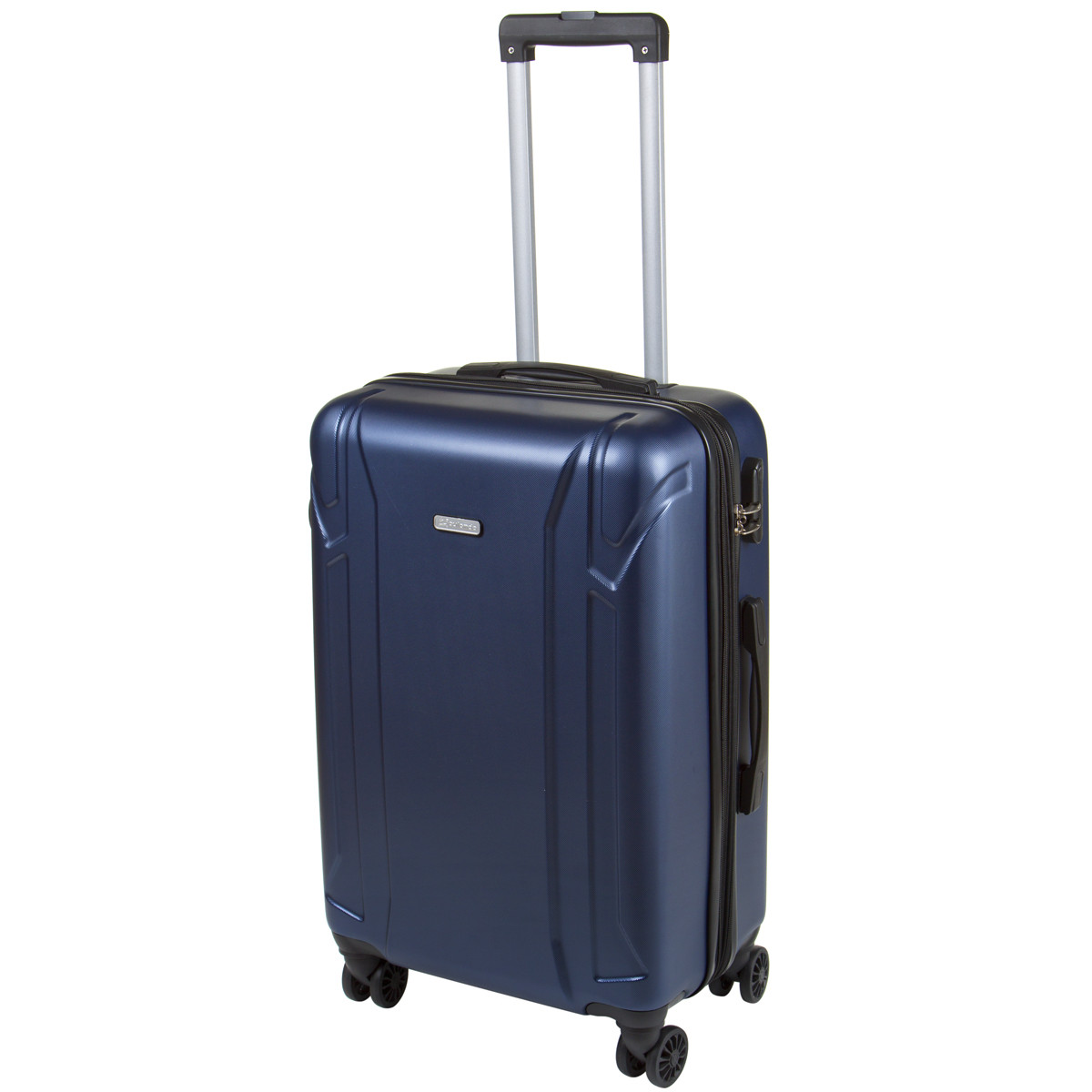 Чемодан средний OULANDO пластик ABS с расширением, 4 колеса 43х68х26(+3) синий ксЛ722-24син