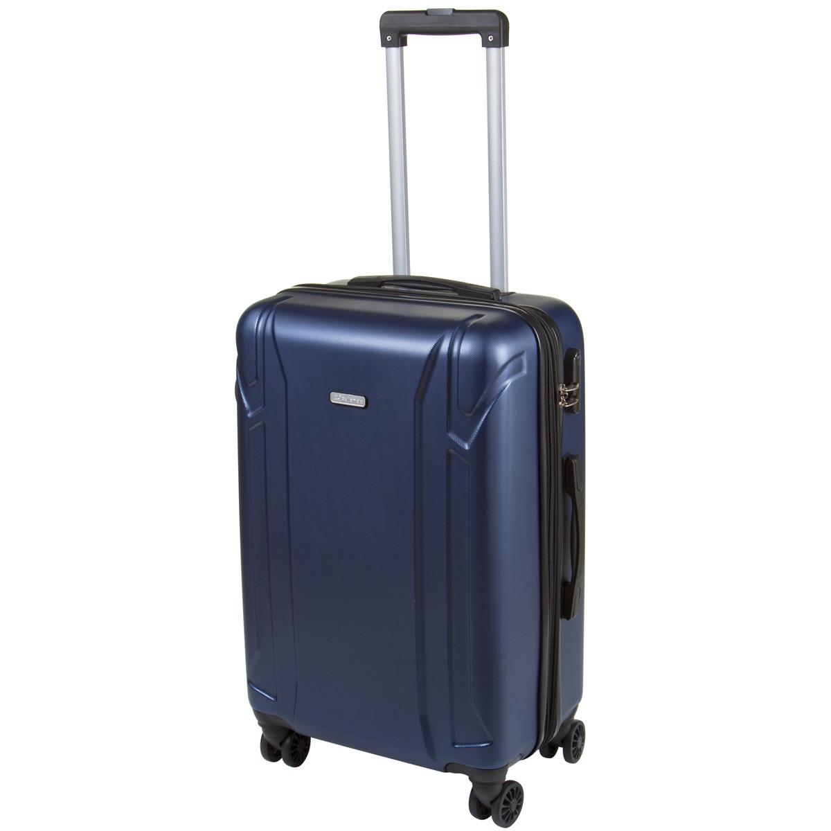 Валіза середній OULANDO пластик ABS з розширенням, 4 колеса 43х68х26(+3) синій ксЛ722-24син