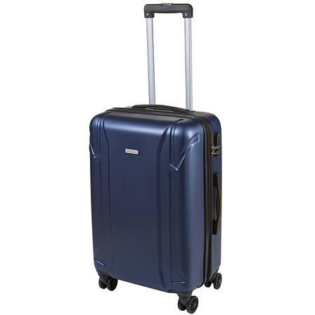 Валіза середній OULANDO пластик ABS з розширенням, 4 колеса 43х68х26(+3) синій ксЛ722-24син, фото 2