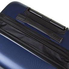 Валіза середній OULANDO пластик ABS з розширенням, 4 колеса 43х68х26(+3) синій ксЛ722-24син, фото 3