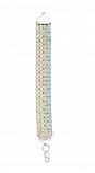 Серебряный браслет тройной арабка с белыми цирконами, фото 5