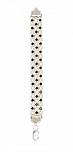 """Серебряный браслет """"Арабский бисмарк"""" с черно-белыми фианитами, фото 3"""