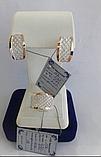 Комплект Ажур з срібла 925 проби з золотими вставками 375 проби, фото 2