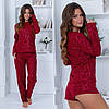 Красивая женская домашняя модная флисовая уютная пижама тройка: кофта+штаны+шорты  р.42-48. Арт-4838