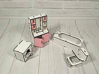 Деревянная мебель для кукольного домика для Барби, Ванная комната
