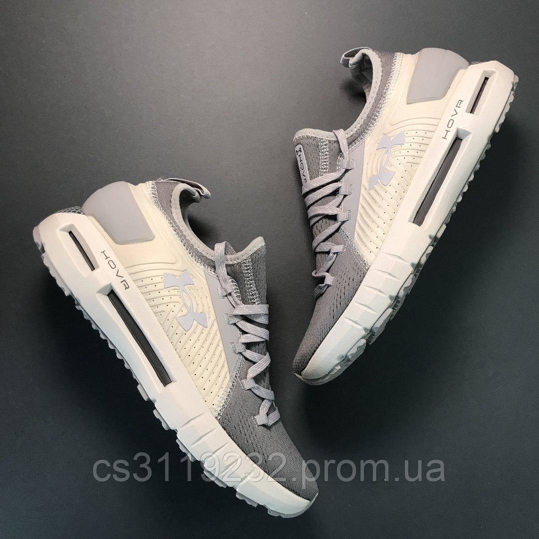 Мужские кроссовки Under Armour Hovr Grey White (бело-серые)