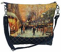 Женская джинсовая стеганная сумочка Зима, фото 1