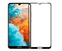 Защитное стекло захисне скло Huawei Y6 Pro 2019, MRD-LX2, MRD-L22, Y6 2019, MRD-LX1, MRD-L21, Honor 8A чорний 11D без упаковки