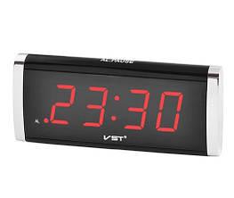 Часы сетевые VST 730-1 с красной подсветкой