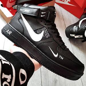 Зимние мужские кроссовки Nike Air Force 1 Mid Winter c мехом, nike air force high (2 ЦВЕТА)