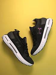 Мужские кроссовки  Under Armour Hovr Black White (черный)