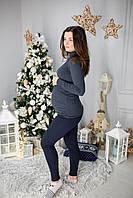783 Водолазка черная для беременных и кормящих мам вискоза с ангорой M(44-46), фото 1