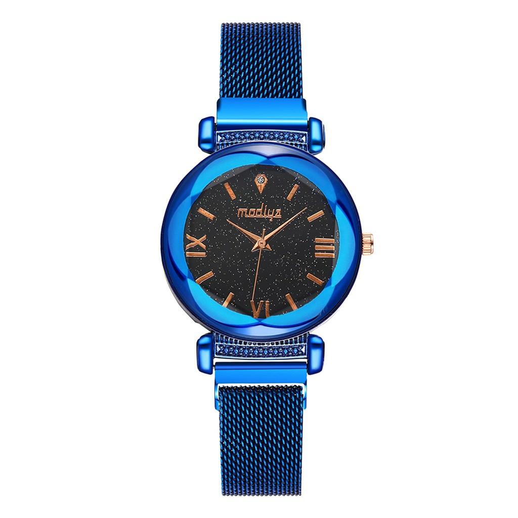 """Жіночі наручні годинники """"Modiya"""" на магнітній застібці (синій)"""