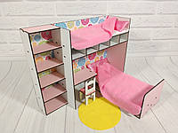 Комплект мебели для домика кукольного, Спальный уголок