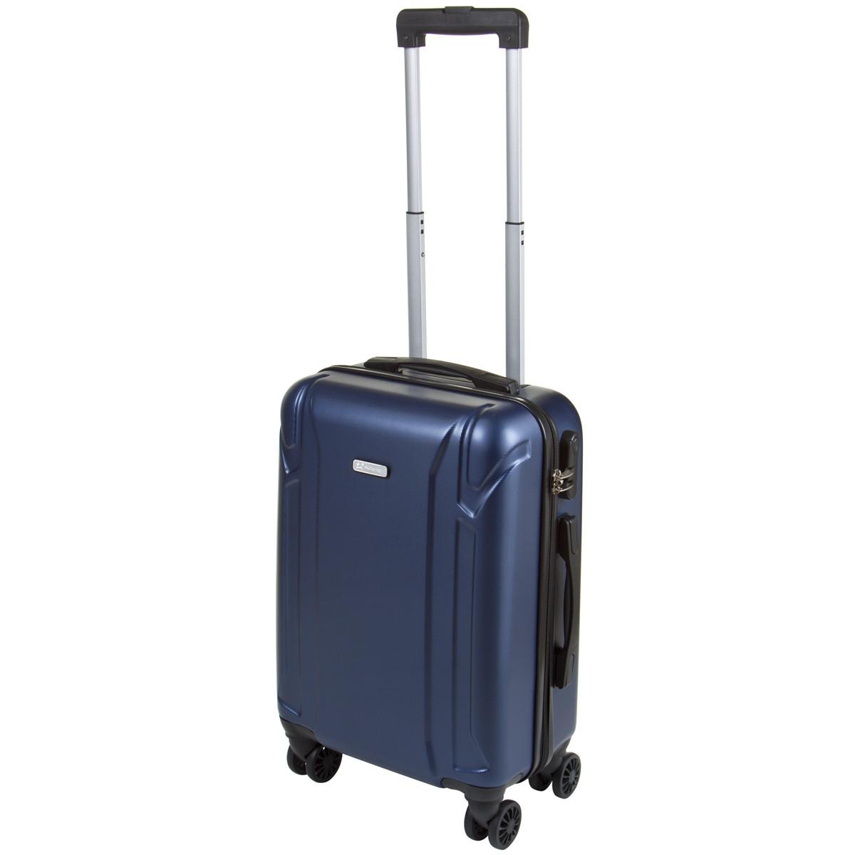 Чемодан маленький OULANDO пластик ABS 4 колеса 36х54х21 синий  ксЛ722-20син