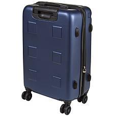 Чемодан маленький OULANDO пластик ABS 4 колеса 36х54х21 синий  ксЛ722-20син, фото 3