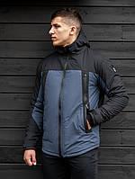 Зимняя мужская куртка парка beZet Project black/dark blue' 19, фото 1
