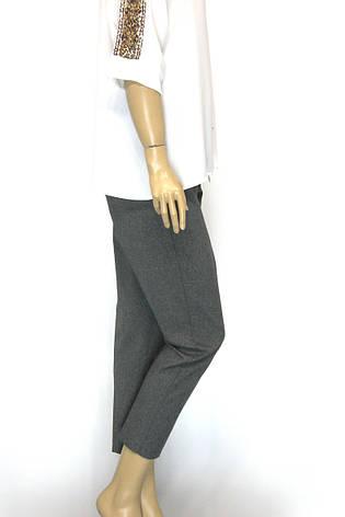 Жіночі сірі брюки  з високою посадкою, фото 2
