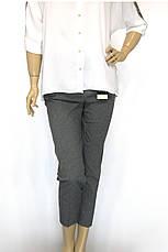 Жіночі сірі брюки  з високою посадкою, фото 3