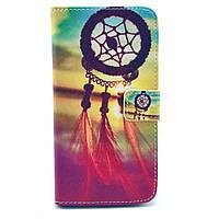 Чехол книжка для Samsung Galaxy Grand 2 Duos G7102, G7100, G7105 боковой с отсеком, Ловец снов