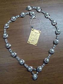 Колье Жемчужина у моря из серебра 925 пробы с золотыми вставками 375 пробы