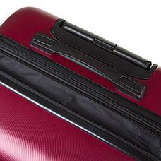 Чемодан  OULANDO средний бордовый пластик ABS с расширением, 4 колеса 43х68х26(+3)  ксЛ722-24бор, фото 2