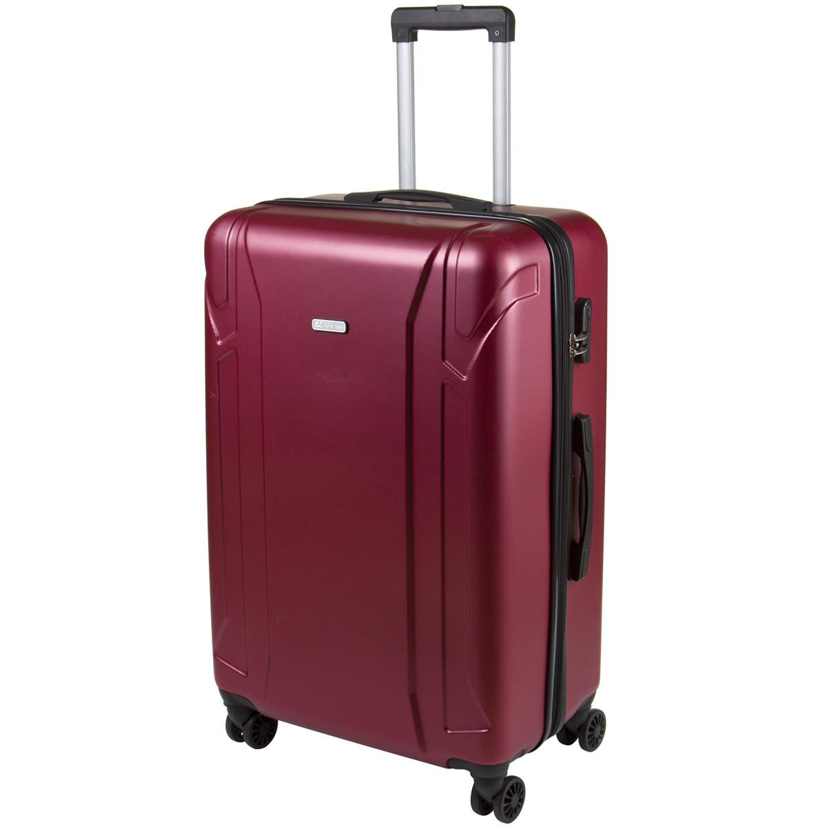 Чемодан OULANDO большой, бордовый, пластик ABS с расширением, 4 колеса 47х72х29(+3)  ксЛ722-28бор