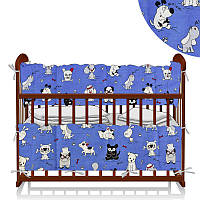 Защита в кроватку Весёлые собаки Беби-Текс голубой - 221017