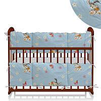 Защита в кроватку Зайчик, солнышко Беби-Текс голубой - 221018